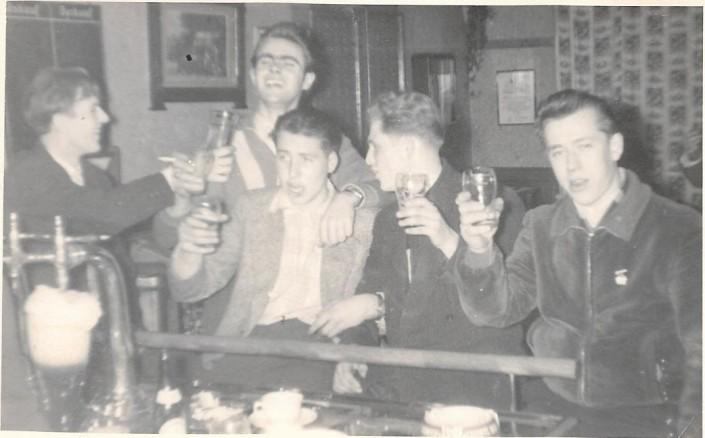 Von links: Lothar Frömming, Gerold Böning, Gerriet Heinemann, August Lübken, Rudi Stach.