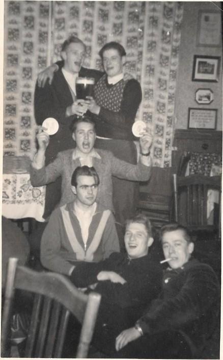 von oben nach unten: Heinz Schaden, Harald Tatzus, Gerriet Heinemann, Gerold Böning, August Lübken, Rudi Stach.
